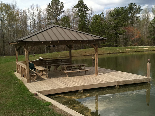 Docks and boathouses for Small pond dock plans